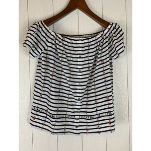 Lucky Brand Women's Striped Top Size M